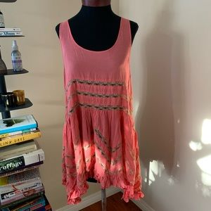 Voile and Lace Trapeze Dress Free People